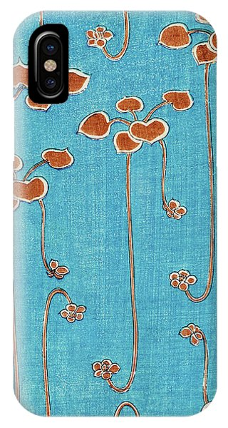 Aquatic Plants iPhone Case - Aquatic Plants - Japanese Traditional Pattern Design by Watanabe Seitei