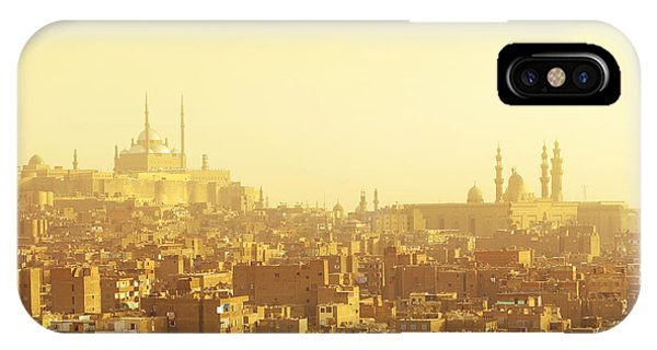 Old Building iPhone Case - Arabian City In Yellow Gamma. Cairo by Dudarev Mikhail