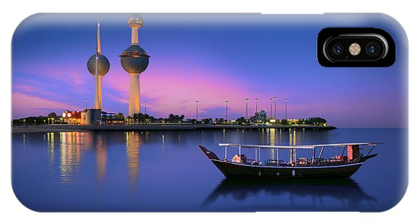 Long Exposure iPhone Case - Arabian Passenger Boat During Blue Hour by Arlo Magicman