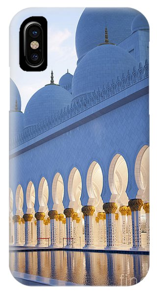 Spirituality iPhone Case - Arches Of Grand Mosque Of Abu Dhabi by Ahmad A Atwah