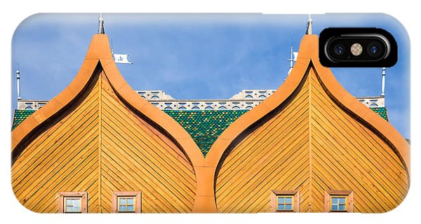 Old Building iPhone Case - Architectural Details Of The Wooden by Gubin Yury