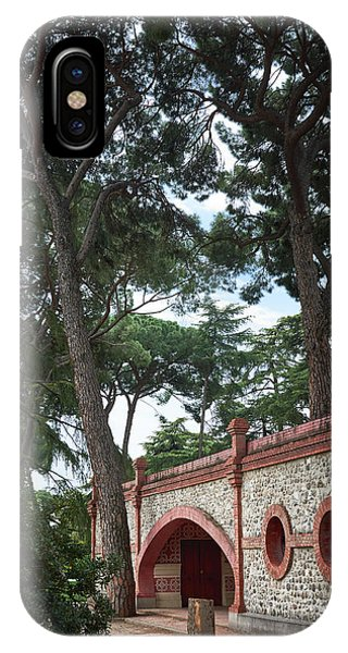 Architecture At The Gardens Of Cecilio Rodriguez In Retiro Park - Madrid, Spain IPhone Case