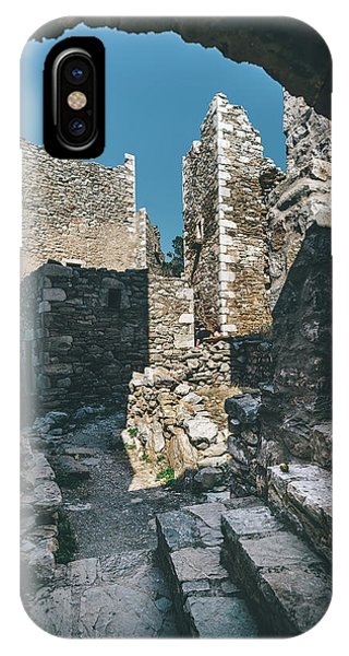 Architecture Of Old Vathia Settlement IPhone Case