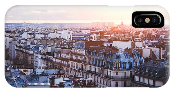 Beautiful Sunrise iPhone Case - Architecture Of Paris, France by Song about summer
