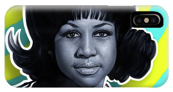 Tribute iPhone Case - Aretha - Queen Of Soul by Andre Koekemoer