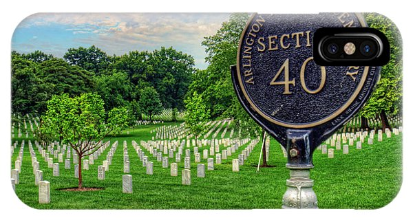 Department Of The Army iPhone Case - Arlington National Cemtery by Craig Fildes