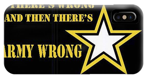Army Wrong IPhone Case