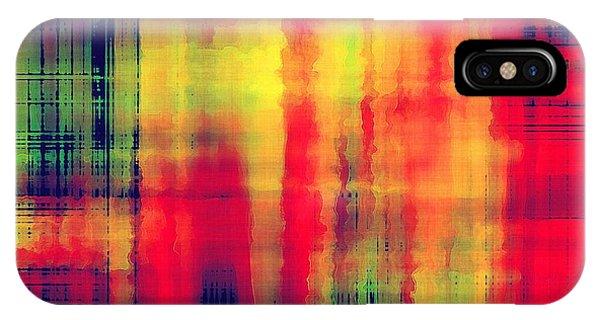 Futuristic iPhone Case - Art Abstract Geometric Pattern by Irina qqq