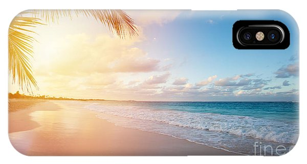 Bahamas iPhone Case - Art Beautiful Sunrise Over The Tropical by Konstanttin
