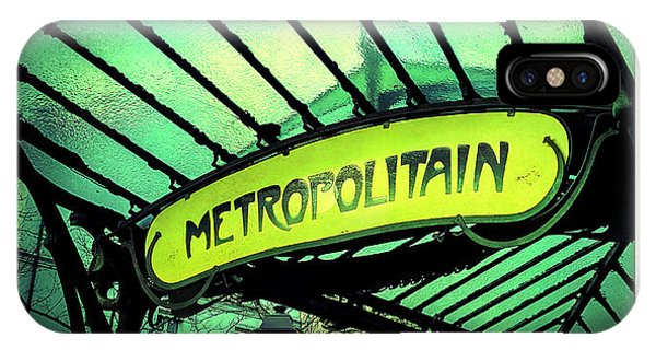 Paris Metro iPhone Case - Art Deco Subway Entrance By , Paris by Bernard Jaubert