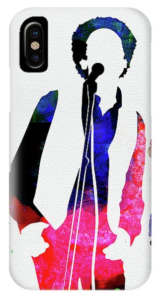 Rock And Roll Art iPhone Case - Art Garfunkel Watercolor by Naxart Studio