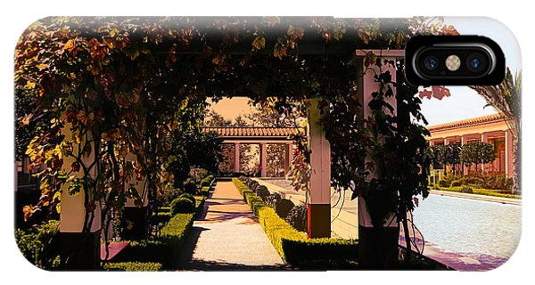 J Paul Getty iPhone Case - Artistic Courtyard Getty Villa  by Chuck Kuhn