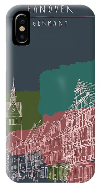 Culture iPhone Case - Artistic Illustration Of Old Center In by Babayuka