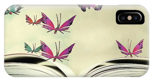 Reading iPhone Case - Artistic Image Of An Open Book And by Valentina Photos