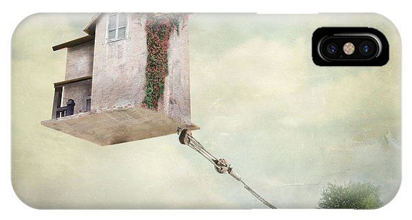 Surrealistic iPhone Case - Artistic Image Representing An House by Valentina Photos