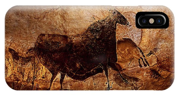 Black Cow And Horses IPhone Case