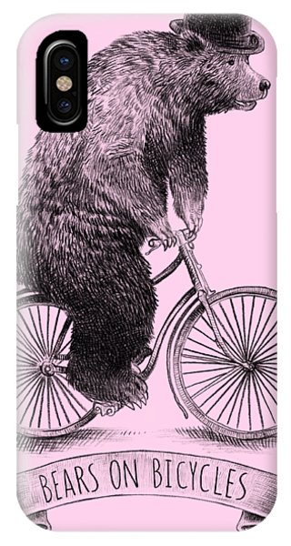 Bike iPhone X Case - Bears On Bicycles by Eric Fan