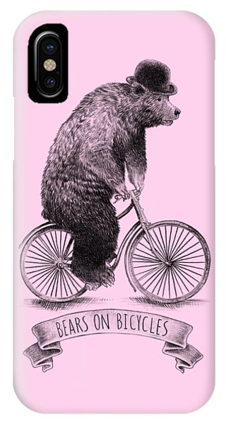 Vintage iPhone Case - Bears On Bicycles by Eric Fan