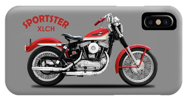 Harley iPhone Case - The Vintage Sportster Motorcycle by Mark Rogan