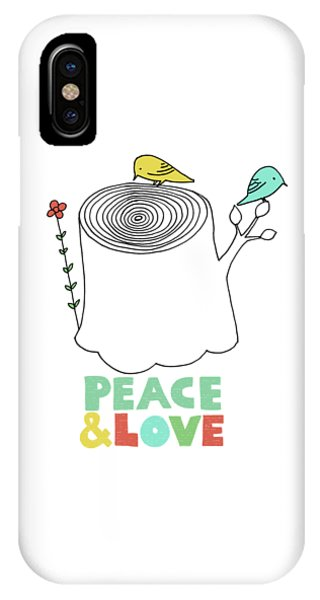 Valentines Day iPhone X Case - Peace And Love by Eric Fan