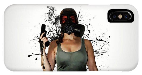Zombies iPhone Case - Bellatrix - Horizontal by Nicklas Gustafsson