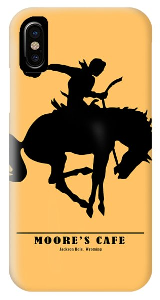 Menu iPhone Case - Moores Cafe Wyoming 1946 by Mark Rogan