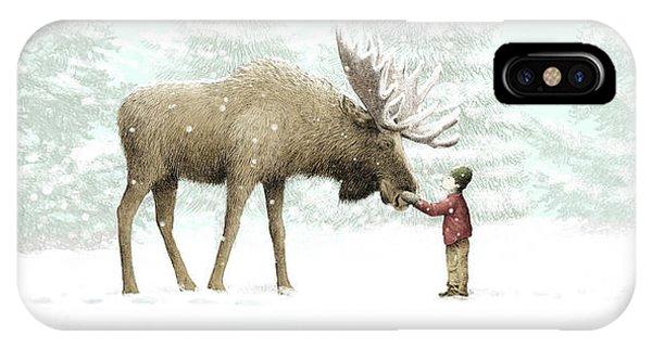 Winter iPhone Case - Winter Moose by Eric Fan