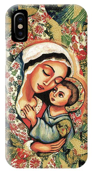 IPhone Case featuring the painting The Blessed Mother by Eva Campbell