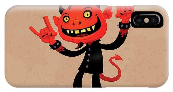 Holiday iPhone Case - Heavy Metal Devil by John Schwegel