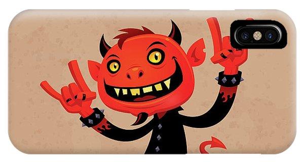 Music iPhone X Case - Heavy Metal Devil by John Schwegel