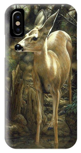 Mule Deer iPhone Case - Mule Deer - Contemplation by Crista Forest