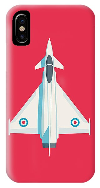 Military iPhone Case - Typhoon Jet Fighter Aircraft - Crimson by Ivan Krpan