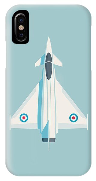 Military iPhone Case - Typhoon Jet Fighter Aircraft - Sky by Ivan Krpan
