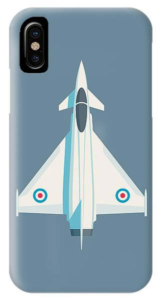 Military iPhone Case - Typhoon Jet Fighter Aircraft - Slate by Ivan Krpan