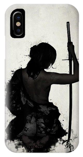 Ink iPhone Case - Female Samurai - Onna Bugeisha by Nicklas Gustafsson
