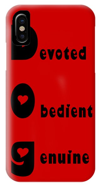 Dog With Black Words IPhone Case