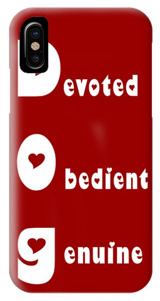 Dog With White Words IPhone Case