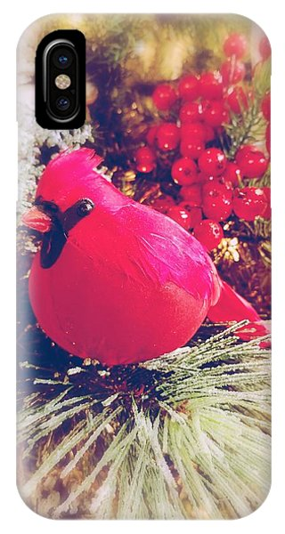 IPhone Case featuring the photograph Blessed Yule by Rachel Hannah