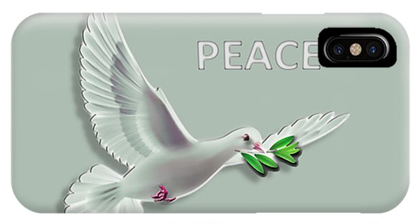iPhone Case - Peace by Cynthia Leaphart