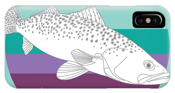 Oyster Bar iPhone Case - Speckled Trout On Oyster by Kevin Putman