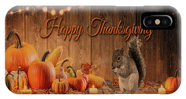 iPhone Case - Happy Thanksgiving by Cynthia Leaphart