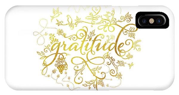 Golden Gratitude IPhone Case