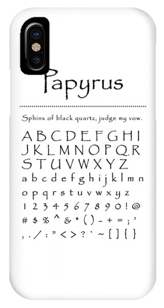 Papyrus - Most Wanted IPhone Case