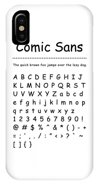 Comic Sans - Most Wanted IPhone Case