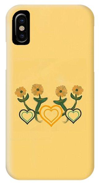The Art Of Gandy iPhone Case - Hearts Bronze by Joan Ellen Kimbrough Gandy of The Art of Gandy