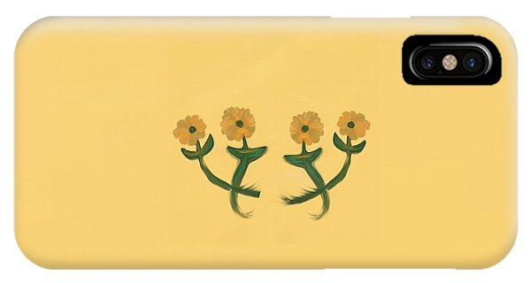 The Art Of Gandy iPhone Case - Four In Bronze by Joan Ellen Kimbrough Gandy of The Art of Gandy