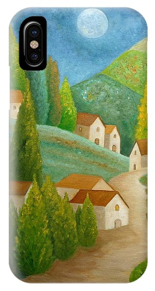 IPhone Case featuring the painting All Is Calm All Is Bright by Angeles M Pomata