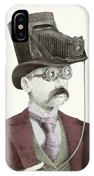 Vintage Camera iPhone Case - The Photographer by Eric Fan