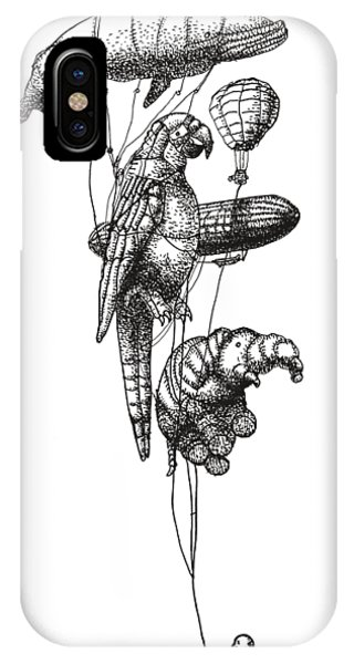 Hot Air Balloons iPhone Case - The Helium Menagerie by Eric Fan