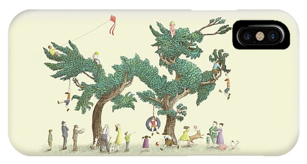 Chinese iPhone Case - The Dragon Tree by Eric Fan